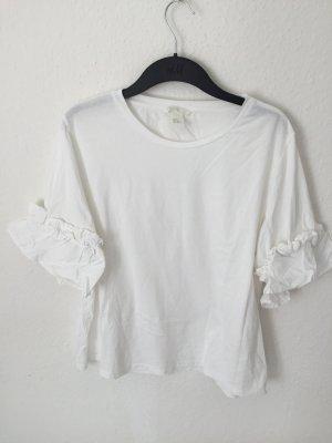 H&M Camisa blanco-blanco puro