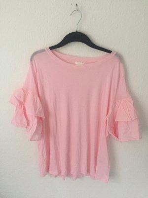 H&M Shirt mit Volants Pink