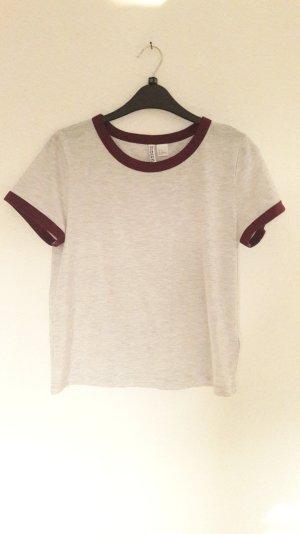 H&M Shirt Raglan Rugby Crop T-Shirt M