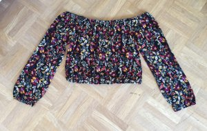 H&M Shirt schulterfrei gr. M bunt Blogger boho