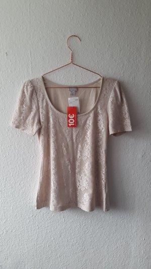 H&M Shirt Spitze Rose