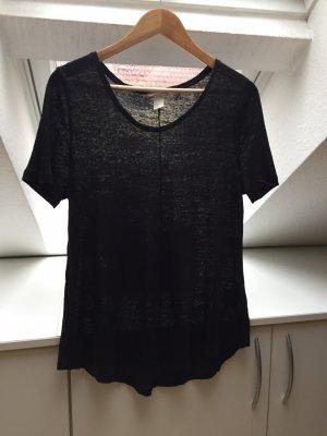 H&M Premium Oversized shirt zwart