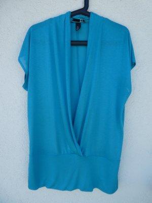 H&M  – Shirt, türkis - Gebraucht, fast wie neu