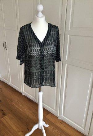 H&M Shirt Tunika schwarz weiß