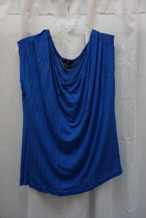 H&M Camisa con cuello caído azul