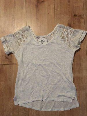 H&M Shirt weiß mit Spitze XS