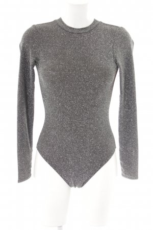 H&M Shirt Body black-silver-colored glittery