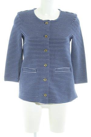 H&M Veste chemise bleu foncé-blanc rayures horizontales élégant
