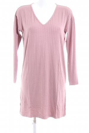 H&M Shirtkleid pink Streifenmuster Casual-Look