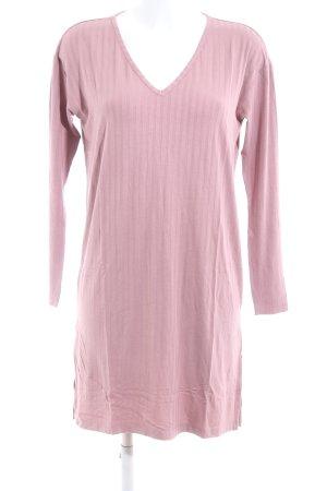 H&M Vestido estilo camisa rosa estampado a rayas look casual