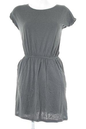 H&M Shirtkleid grüngrau Casual-Look