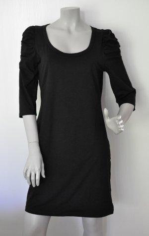 H&M Shirtkleid Jersey Kleid Baumwolle Elasthan Puffärmel Gr. L WIE NEU
