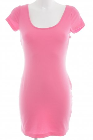H&M Shirtkleid neonpink Casual-Look