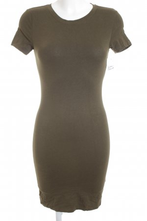 H&M Shirtkleid olivgrün schlichter Stil