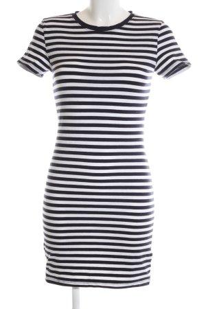 H&M Shirtkleid schwarz-weiß Streifenmuster Casual-Look