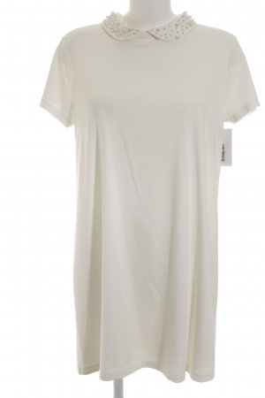 H&M Shirtkleid wollweiß-creme Business-Look