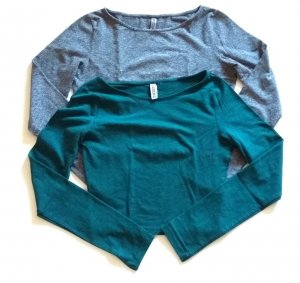H&M Shirts 2-er Set Grün+Grau