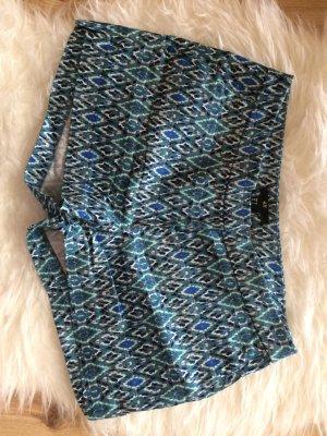 H&M Shorts 36 S neu blau gemustert türkis Sommer