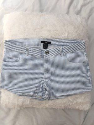 H&M Hot pants bianco-azzurro