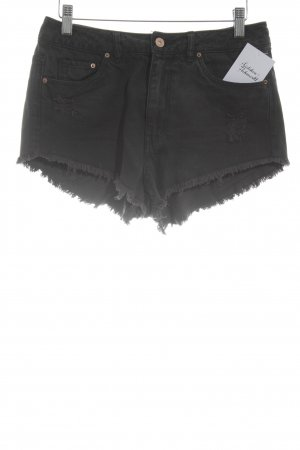 H&M Shorts anthrazit Destroy-Optik
