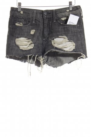 H&M Shorts anthrazit-wollweiß Jeans-Optik