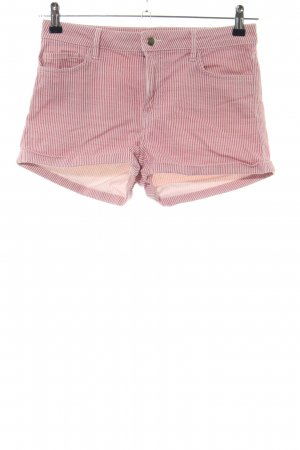 H&M Shorts pink-wollweiß Streifenmuster Casual-Look