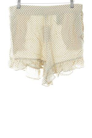 H&M Shorts creme-schwarz Allover-Druck Casual-Look