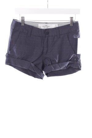 H&M Shorts dunkelblau-grau Karomuster
