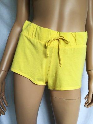 H&M Shorts Gr. XS Gelb gelbe Hotpants Sweatshorts kurze Hose kurz Hot Pants