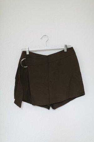 H&M Shorts Grün Khaki mit Gürtel Skorts Mini Gr. 36 Hot Pants