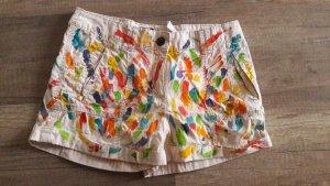 H&M Shorts Hotpants kurze Hose Cargo Nude Farbkleckse Ibiza 34