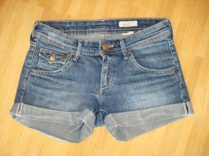 H&M Denim Shorts petrol-cadet blue cotton