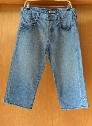 H&M Shorts Jeansshorts Longshorts 32 S/M Denim relaxedfit kurze Hose Krempelhose