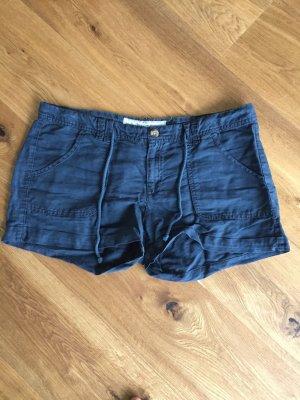H&M Shorts Leinen dunkelblau 38