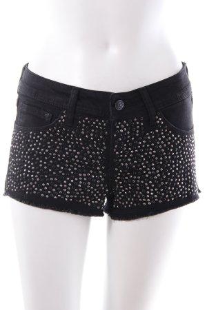 H&M Shorts mit Pailletten schwarz