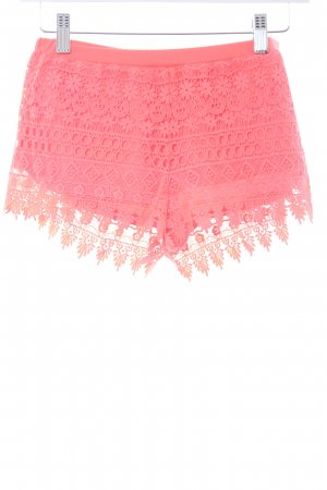 H&M Shorts neonrot florales Muster Beach-Look