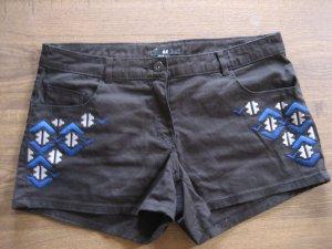 H&M shorts neu schwarz aztek gr. m 36/38