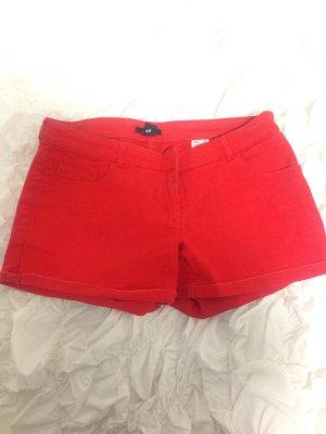 H&M Shorts Rot kurze Hose Gr 38