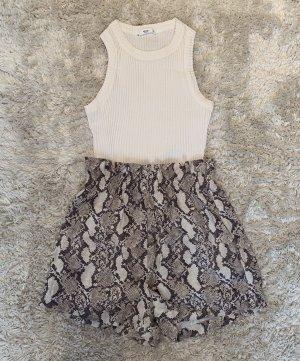 H&M Shorts Schlangenmuster beige, creme, schwarz Gr. 36