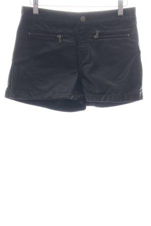 H&M Shorts schwarz Biker-Look