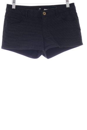 H&M Shorts schwarz-weiß Punktemuster Casual-Look