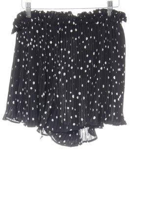 H&M Short noir-blanc motif de tache style romantique