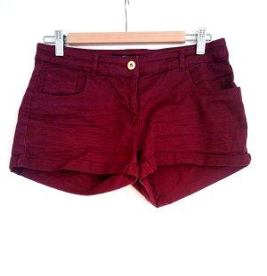 H&M Shorts weinrot Größe 38