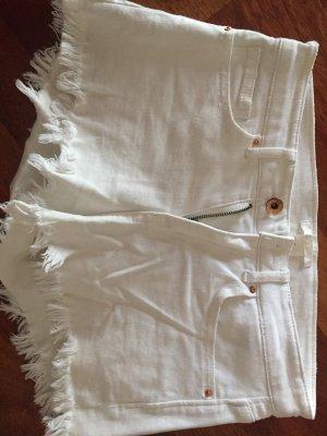 H&M shorts weiß Fransen