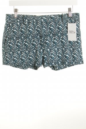 H&M Shorts weiß-petrol florales Muster