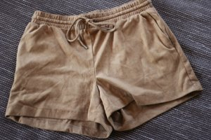 H&M Shorts Wildleder Optik Suede Camel Gognac Blogger