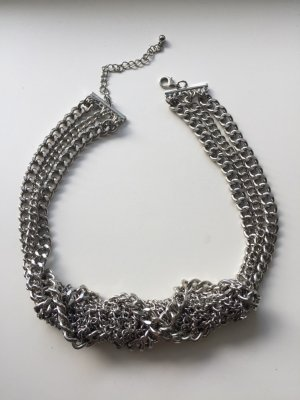 H&M silberfarbende Statement-Kette