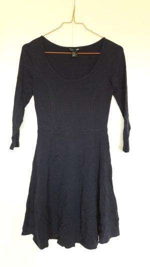H&M Skaterkleid Kleid Jersey 3/4 Arm dunkelblau Gr. XS