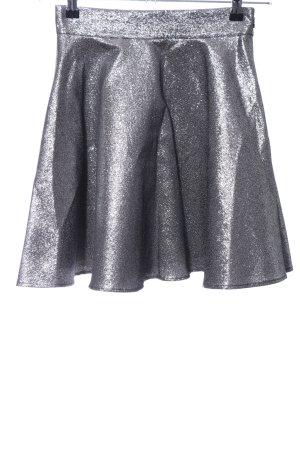 H&M Skater Skirt silver-colored elegant