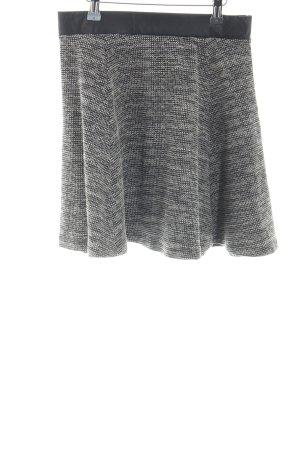 H&M Skater Skirt light grey-black casual look